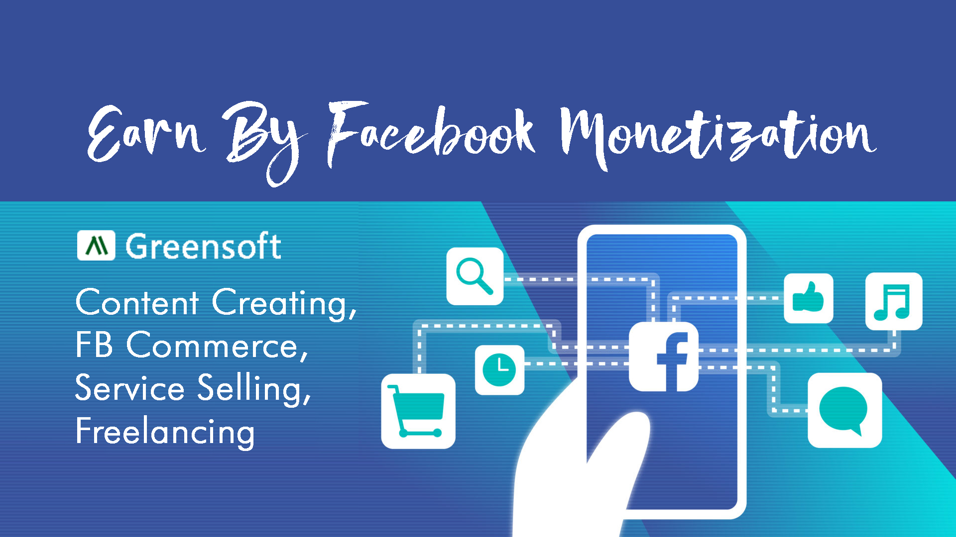 Earn money from your Facebook page, monetization, Content & Service Selling, greensoft dhaka
