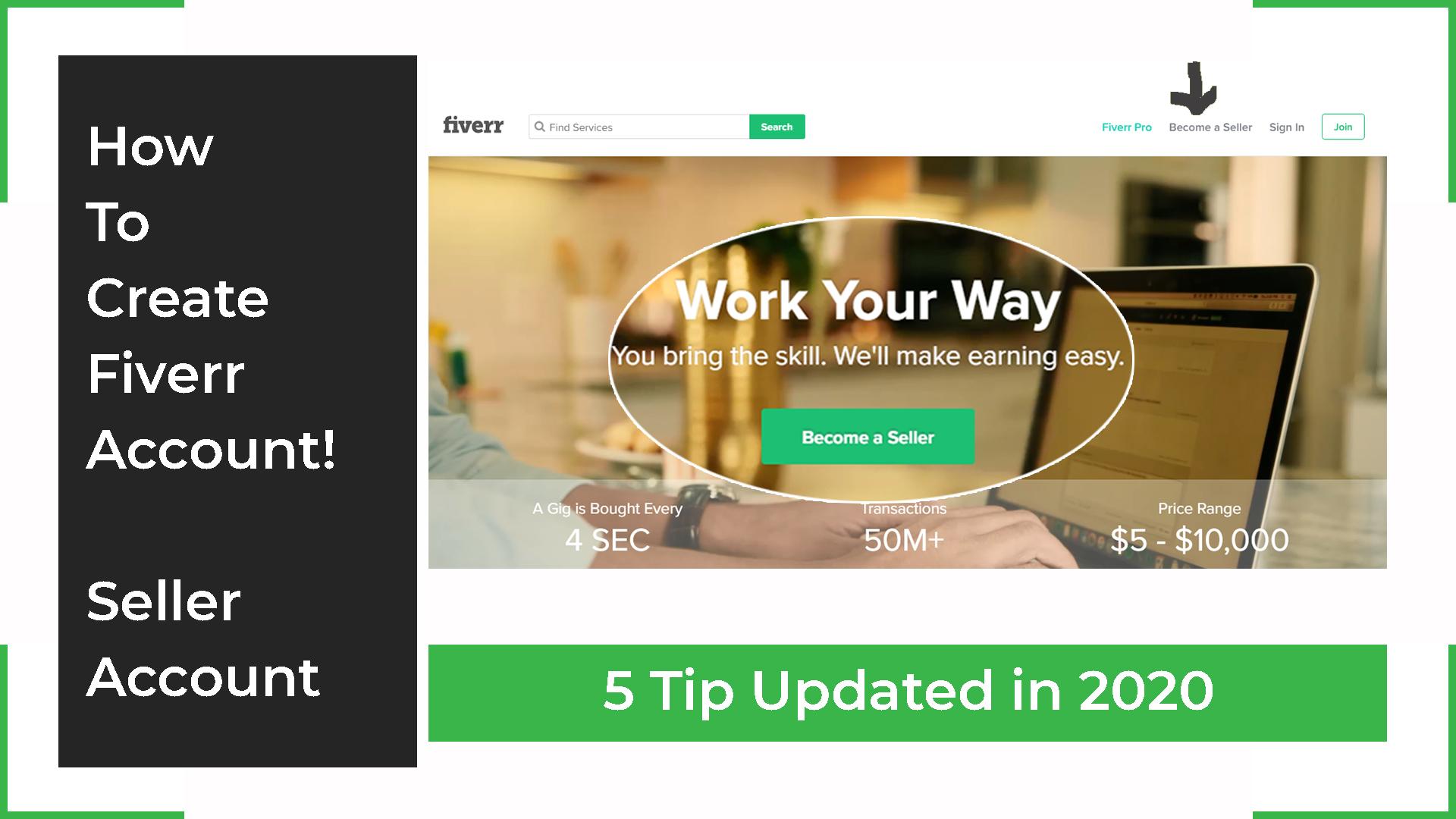 How To Create Fiverr Account, Greensoft dhaka