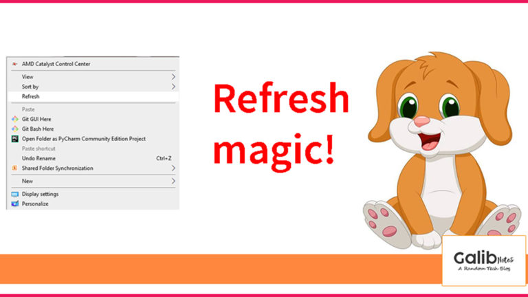 How to refresh windows 10 in 2020?