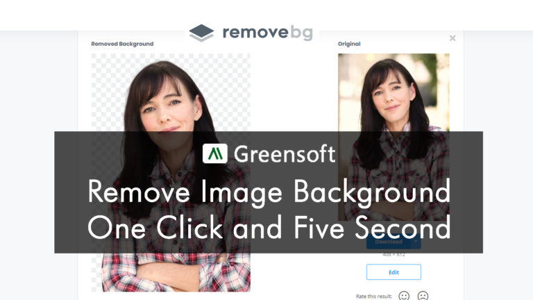 Remove Image Background  without Photoshop in 1-click & 5-second