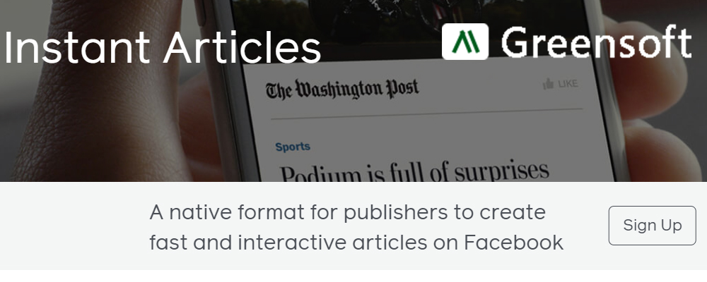 Facebook instant article, greensoft