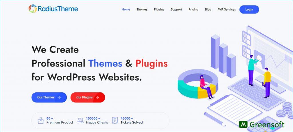 RadiusTheme - WordPress Company in Bangladesh -Greensoft